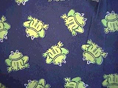 Blue Frog Fabric