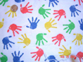 Primary Hands Fabric
